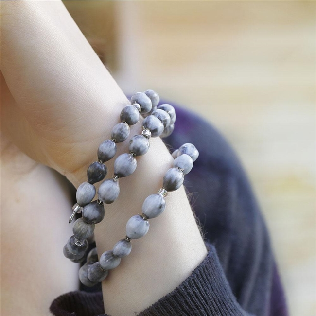 Bead Wrap Bracelet - Gray