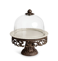 The GG Collection Cake Pedestal w/Glass Dome