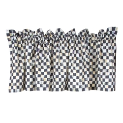 MacKenzie-Childs Courtly Check Cafe Valance