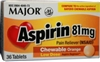 ASPIRIN, TAB 81MG CHILD CHEW