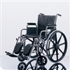 "Wheelchair 300lb Capacity 18x16"" Vinyl Fix Full Arm Elev Foot Ea By Medline Industries Inc"