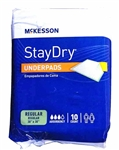 "StayDry Underpads 10ct. 30"" x 30"""
