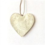Capiz Heart Ornament