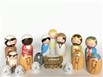 Colorful Wooden Pegdoll Nativity