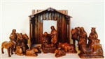 17-piece Wooden Nativity