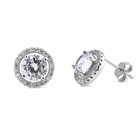 Silver Earrings with CZ