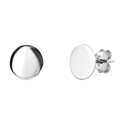 Silver Earrings - Large Circle