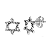Silver Earrings - Star