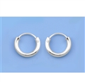 Silver Continuous Hoop Earrings - 8mm