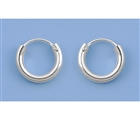 Silver Continuous Hoop Earrings - 10mm