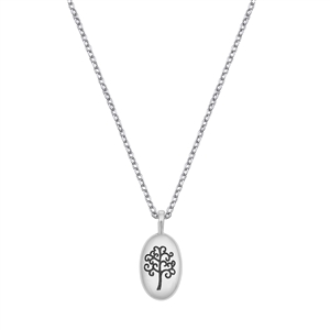 Silver Necklace W/ CZ - Tree of Life