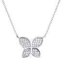 Silver Necklace W/ CZ - Butterfly