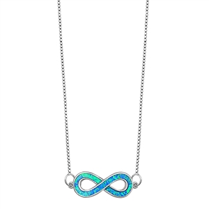 Silver italian Necklace - Infinity - $12.40
