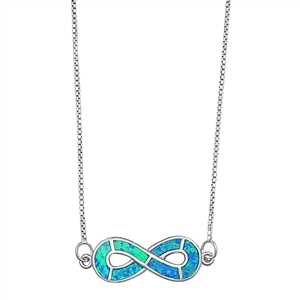 Silver italian Necklace - Infinity - $12.63