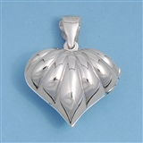 Silver Locket Pendant - Heart