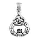 Silver Pendant - Celtic Claddaugh