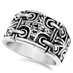 Silver CZ Ring - Cross - $19.29