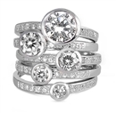Stackable Silver Ring w/CZ