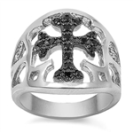 Silver Ring w/ CZ - Cross  -  $14.91