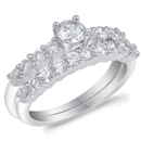 Silver CZ Ring  -  $11.90