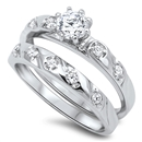 Silver CZ Ring  -  $14.6