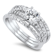 Silver CZ Ring  - $12.95