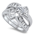 Silver CZ Ring  - $14.86