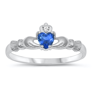 Silver CZ Ring  - Claddagh Ring - $3.68