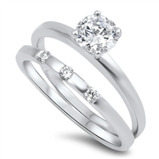 Silver CZ Ring - $7.98