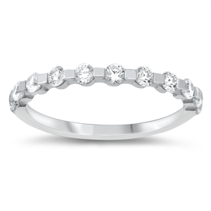 Silver CZ Ring - $4.40