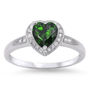 Silver CZ Ring - Heart - $4.99