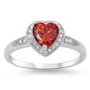 Silver CZ Ring - Heart - $4.79