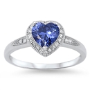 Silver CZ Ring - Heart - $5.19