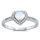 Silver CZ Ring - Heart - $5.64