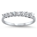Silver CZ Ring - Journey Ring - $4.92