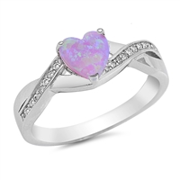 Silver CZ Ring - Heart - $5.95