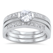 Silver CZ Ring - $12.56