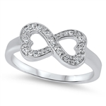 Silver Infinity Heart Ring - $7.38