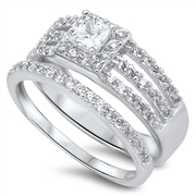 Silver CZ Ring - $11.52