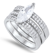 Silver Wedding Ring Sets - $15.42