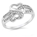 Silver CZ Ring - Heart - $5.79