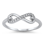 Silver CZ Infinity Ring - $3.99