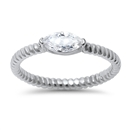 Silver CZ Ring - $4.62