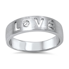 Silver CZ Ring - Love - $6.32