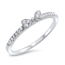 Silver CZ Ring - Bow - $3.94