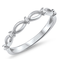 Silver CZ Ring - $2.98
