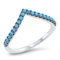 Silver Ring W/ Stone - $6.59