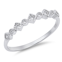 Silver CZ Ring - $3.08