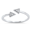 Silver CZ Ring - Triangle - $2.88