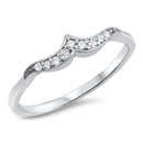 Silver CZ Ring - Mini Wave - $3.28